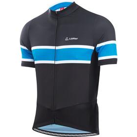 Löffler Pace Maglia Da Ciclismo Con Zip Intera Uomo, black/brilliant blue
